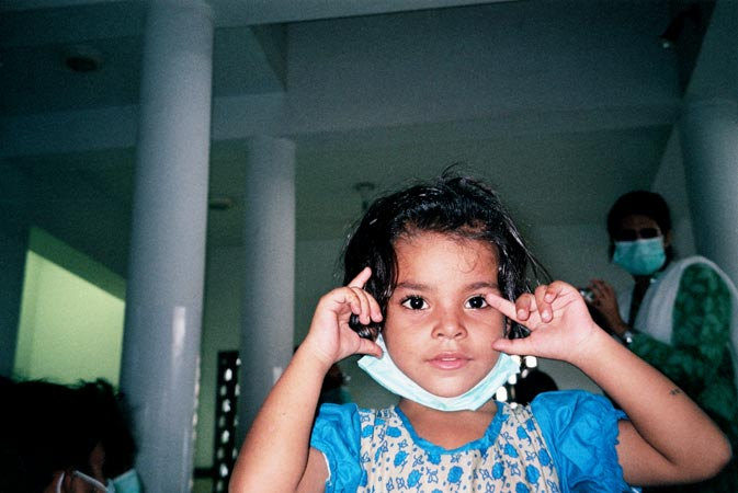 ?This is my niece. I love children. I used to sit with her, feed her, and give her love and affection. Maybe, because of this, my TB germs spread to her. Now, she is being treated at the Indus Hospital.?  ? Nasir Hussain, 24-year-old male, TB Patient