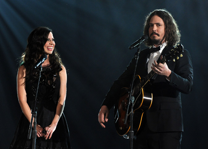 Musicians Joy Williams and John Paul White of the Civil Wars perform onstage. ? AFP Photo