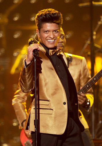 Singer Bruno Mars performs onstage. ? AFP Photo