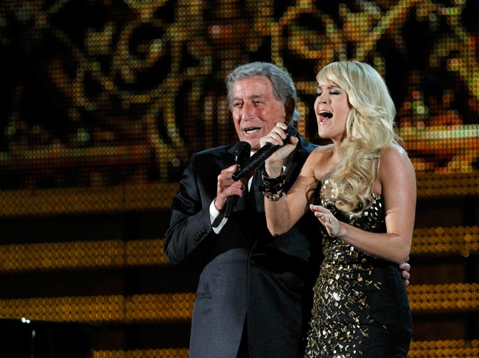 "Tony Bennett performs ""It Had to Be You"" with Carrie Underwood. ? Reuters Photo"