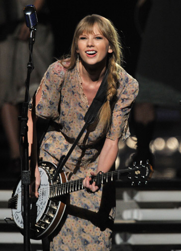 Musician Taylor Swift performs onstage. ? AFP Photo