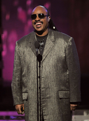Musician Stevie Wonder speaks onstage. ? AFP Photo