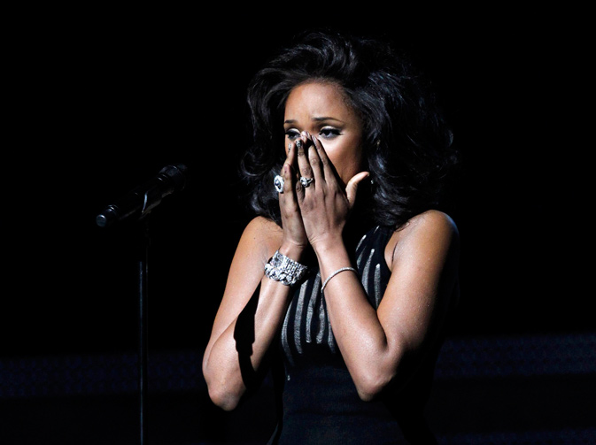 "Jennifer Hudson reacts after performing ""I Will Always Love You"" as a tribute to the late Whitney Houston. ? Reuters Photo"