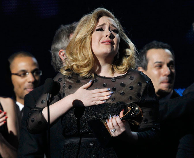 "Adele accepts Album of the Year for ""21?. ? Reuters Photo"