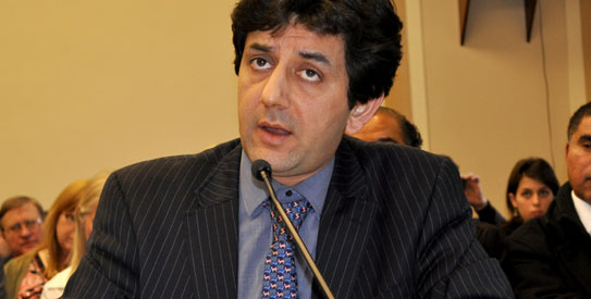 The Pakistan Director of Human Rights Watch (HRW) Ali Dayan Hasan at the US Congressional hearing on Balochistan. – Photo by author