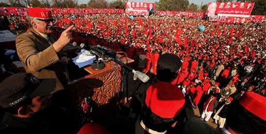 Begum Naseem Wali blames the ANP top leadership for her ouster from party politics. —Photo by AP
