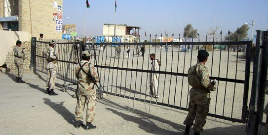 The Pak-Afghan border at Chaman. – File photo by AFP