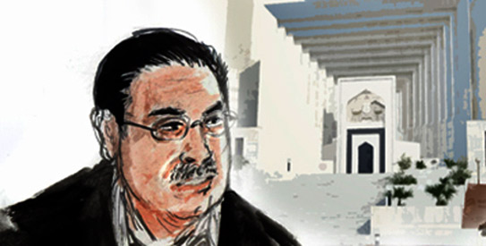 PM Gilani and President Zardari escaped the wrath of the court in Memogate because that case was not legally sound; however, the two will not be so lucky with the NRO case, where the court is acting with more legitimacy.  — Illustration by Faraz Aamer Khan/Dawn.com