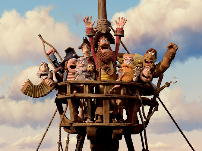 "In this film image released by Sony Pictures, the cast is shown in a scene from ""The Pirates! Band of Misfits"". ? Photo by AP."