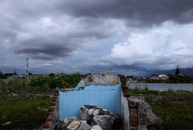 The ruins of a house damaged by the 2004 tsunami is pictured in Banda Aceh April 12, 2012. ? Photo by Reuters