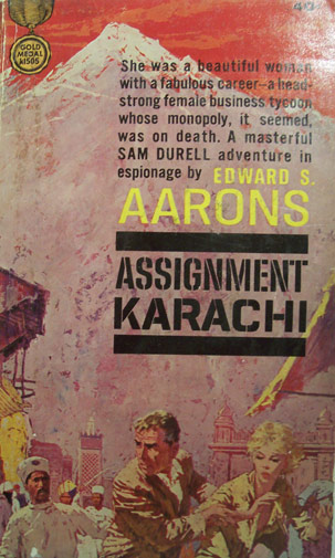 A copy of famous spy novelist, Edward S. Arron's 1962 book, 'Assignment Karachi.'