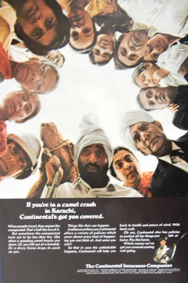 This is a 1967 press ad published in LIFE magazine for the American insurance company, Continental Insurance.