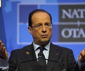 France's Hollande sets conditions on Afghan financing