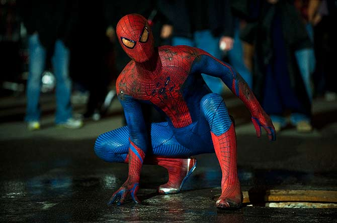 Actor Andrew Garfield is shown in a scene from the film ?The Amazing Spider-Man? ? File Photo