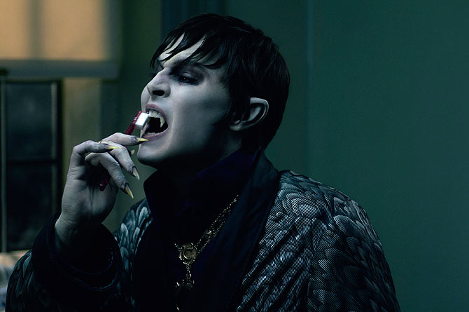 Actor Johnny Depp is shown in a scene from his film ?Dark Shadows?