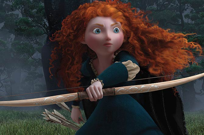 The character Princess Merida is shown in a scene from the upcoming animated film ?Brave?