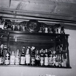 A section of a bar in Karachi seen in 1974.