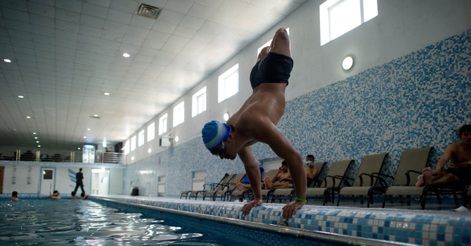 Afghan swimmer dreams of London Paralympics