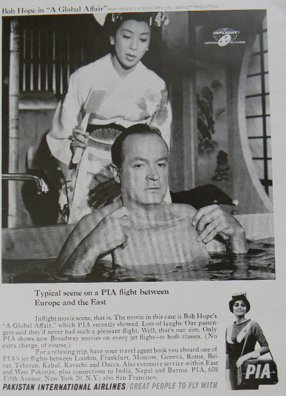A 1964 PIA press ad featuring famous Hollywood comedian and actor Bob Hope.