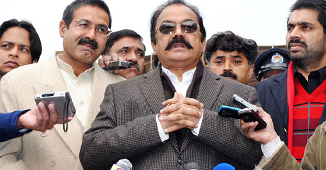 Punjab Law Minister Rana Sanaullah.—File Photo