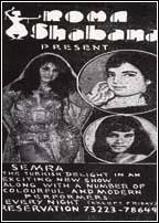 Newspaper ad (taken from DAWN's 7 February, 1972 edition) announcing the arrival of a Lebanese belly dancer in Karachi.