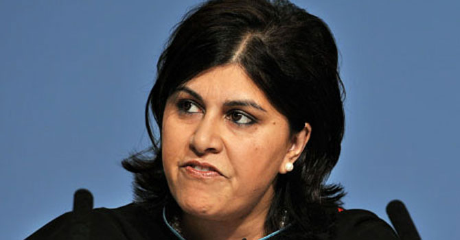 Baroness Sayeed Warsi – File photo by AFP