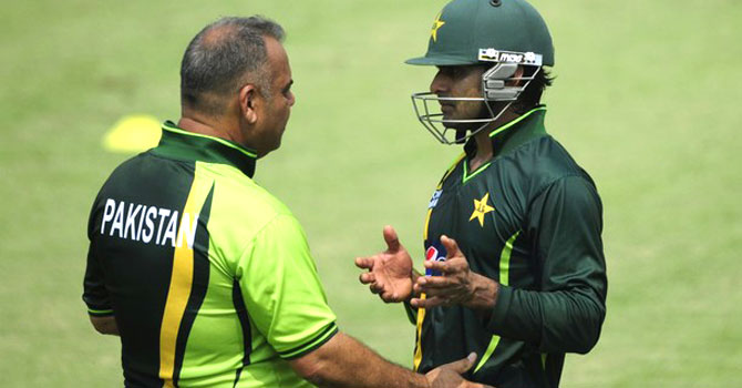 """I am very agreeable to see that players are beginning to be selected in formats that are suitable to them,"" said Whatmore, who offered no comment on Mohammad Hafeez replacing Misbah-ul Haq as Twenty20 captain. – File photo by AFP"