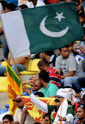 Pakistani fans in the crowd at Pallekele ? Photo by AFP