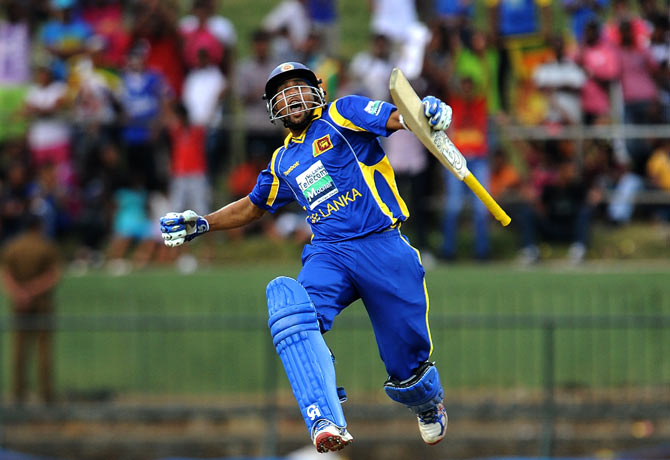 Tilikaratne Dilshan scored his 13th ODI hundred for Sri Lanka. ? Photo by AFP