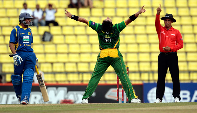 Shahd Afridi dismissed Chandimal, lbw, for 32. ? Photo by AP