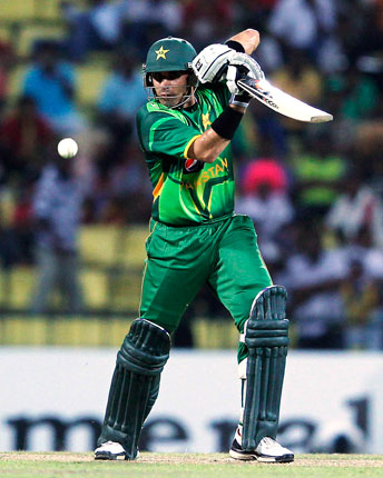 Pakistan captain Misbah-ul-Haq was the highest scorer after Azhar, as the Pakistani batting collapsed. ? Photo by Reuters