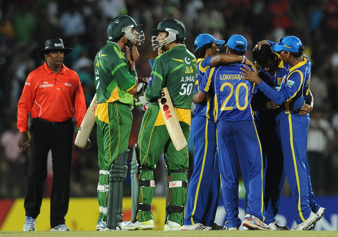 Pakistan vs Sri Lanka; first Twenty20 at Hambantota ended in a 37-run win for Sri Lanka. – Photo by AFP