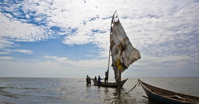 Turkana men sail their fishing boats near the shores of Lake Turkana, northeast of Kenya's capital Nairobi. – Reuters