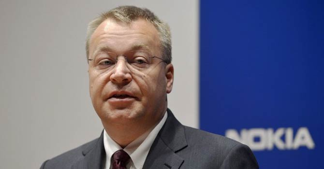 Nokia CEO Stephen Elop speaks during the company's news conference in Espoo. – Reuters