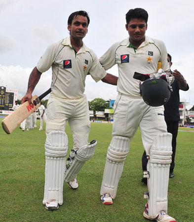 ?Finally I did something good for my team,? a relieved Hafeez said at stumps. -Photo by AFP