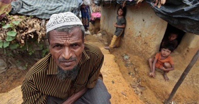 A Rohingya man poses at an unauthorized camp in Bangladesh.—AP Photo