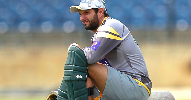 Shahid Afridi, who holds the record of smashing the fastest one-day hundred – off 37 balls against Sri Lanka in Nairobi in 1996 – has not been on the best of form with the bat and has not bowled to the standard he set as a leg-spinner. — Photo by Reuters