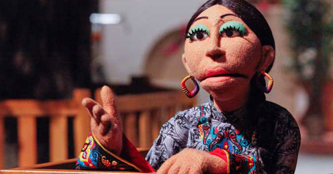 A locally developed puppet named Baji is seen performing.—File Photo