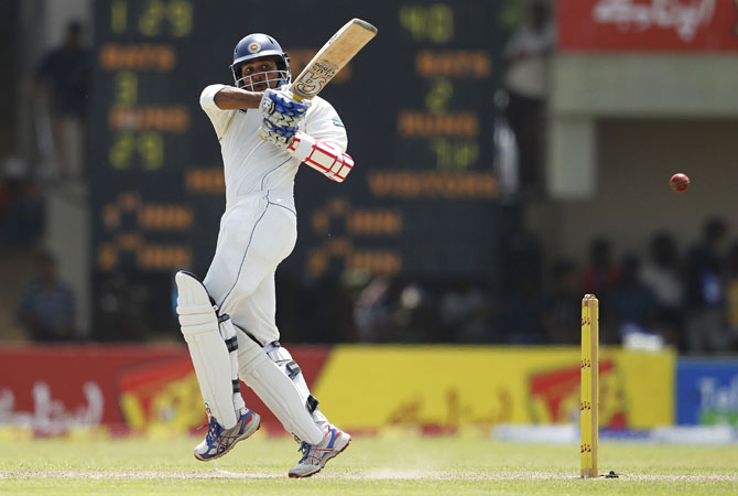 Dilshan was as comfortable on the backfoot as he was coming to the pitch of the ball. - Photo by Reuters