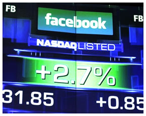 Facebook IPO listing