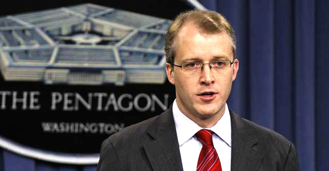 Pentagon spokesman George Little – File photo by AP