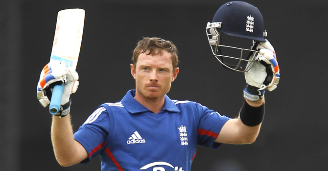 Ian Bell top-scored for England with 69. - Photo by AFP