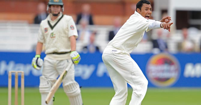 Danish Kaneria last played for Pakistan in the first Test against Australia on the 2010 tour of England. – File photo by AP
