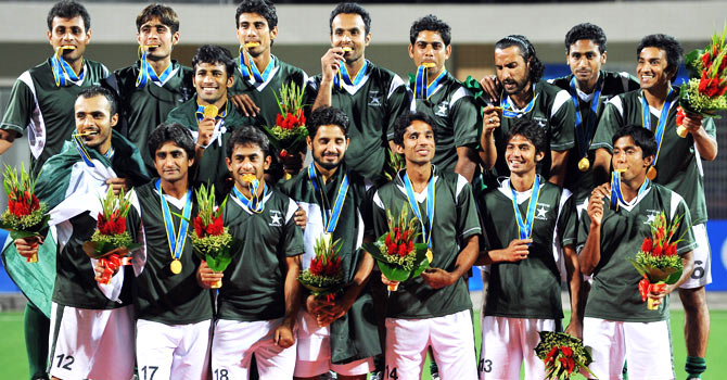 Several members of the team that won the hockey gold at the 2010 Asian Games in China, have been discarded by the PHF for various reasons. It was the Asian Games win that brought Pakistan its Olympic qualification. – File photo by AFP
