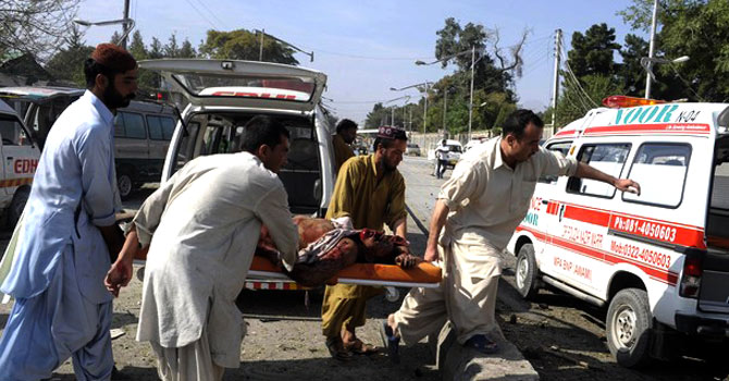 Rescue operations underway following a blast in Quetta. — File photo by AFP