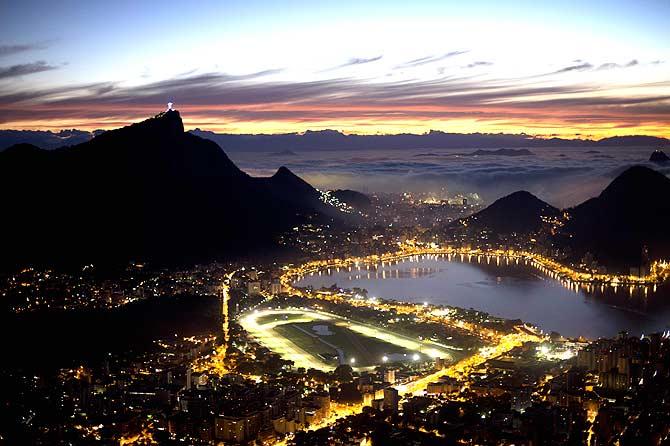 Rio de Janeiro, Brazil at sunrise. ? Photo by AFP