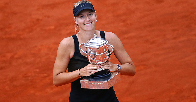 Maria Sharapova wins the French Open 2012 – Photo by AFP