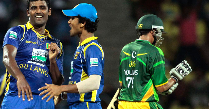 Younis Khan failed to reach double figures in any of his three innings in the ODI series against Sri Lanka. – Photo by AP