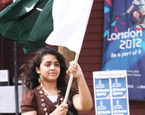 A Pakistani Olympic torch bearer