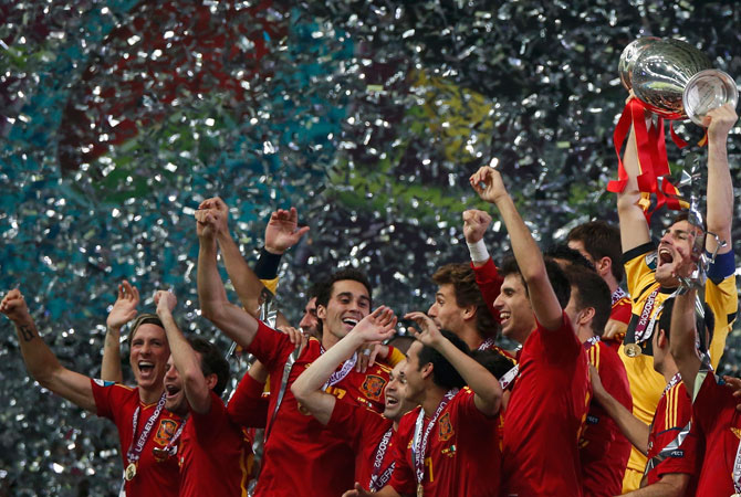 Spain beat Italy 4 - 0. ? Photo by Reuters